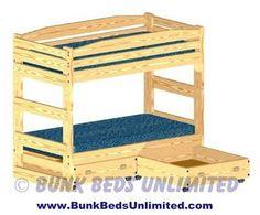 19 Best Bunk Beds Images Bunk Beds Loft Bed Plans Triple Bunk