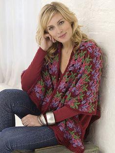 Beautiful Wrap designed by Kim Guzman  International Yarns.  FREE crochet pattern