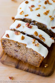 Best-Ever Banana Bread with Cream Cheese Frosting. by Sally's Baking Addiction