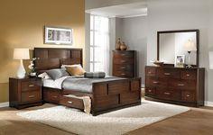 American Signature Furniture - Toronto Bedroom Collection-Queen Storage Bed $499.99