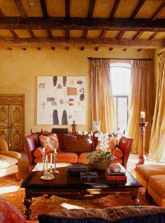 Orange Living Room on Pinterest | Orange Living Rooms, Orange Walls ...