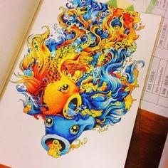 小本超快完成!  #KerbyRosanes #Doodle #coloringbook  #小怪獸奇幻樂園 #Prismacolor#coloringbookforadult #coloring #coloringmasterpiece #ilovecoloring #coloriage #beautifulcoloring