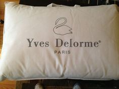 Yves Delorme premium Standard Down & Feather pillows
