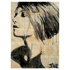 Add museum-worthy appeal to your living room or study with this eye-catching canvas print, showcasing a portrait of a woman's face and typographic accents.   Product: Canvas printConstruction Material: Canvas and woodColor: Black and whiteFeatures:  Fine art canvas print by Kings Wood ArtDesigned by Loui Jover Eco-friendly, solvent free inks Gallery wrapped Ready to hang   Cleaning and Care: Dust with a dry cloth
