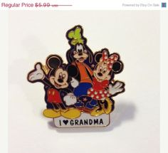 Enamel Pin Mickey Mouse Minnie and Goofy I by LessieBluesVintage