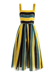 DOLCE & GABBANA  Organza stripe sun dress (149223)    €1,656