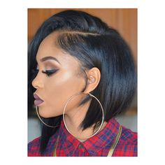 Hairstylist Anthony Must-have Black Bob AnthonyCuts011 ❤ liked on Polyvore featuring hair and hair styles