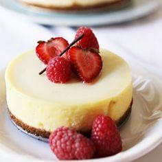 Vanilla Bean Cheesecake with Jellied Cream, Raspberry Gelee, Accompanied by Yogurt Sherbet, and A Giveaway!
