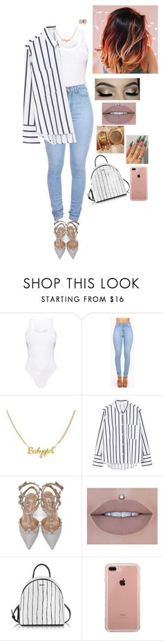"""Untitled #1059"" by medinea ❤ liked on Polyvore featuring Vibrant, MANGO, Valentino, DKNY and Belkin"