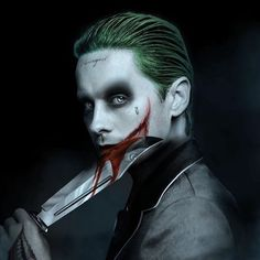 "((Open character)) The Joker. In his own mad way he loves Harley Quinn and his daughter Mavis (Ace). Even though he does abuse Harley at times. He's an influential person and large gang leader in Gotham. Calls Mavis his ""little Mavey"" Jared Leto Joker, The Joker, Joker Art, Gotham City, Superman, Batman Batman, Joker Kunst, Harley Queen, Joker Queen"