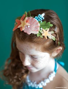 Haarschmuck Diy - No-Sew Felt Mermaid Headband Felt Diy, Handmade Felt, Felt Crafts, Mermaid Headpiece, Mermaid Crown, Mermaid Crafts, Mermaid Diy, Baby Girl Halloween, Couple Halloween