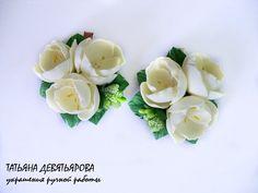 Делаем нежную заколочку «Весенние цветы» из фоамирана - Ярмарка Мастеров - ручная работа, handmade