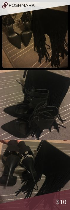 Black heels Very cute , size 8 but fit more like a 7.5 Charlotte Russe Shoes Heels