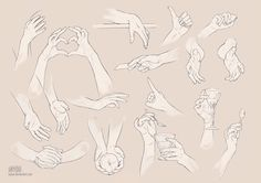Hand guide study - part 02 by Kyoux on DeviantArt
