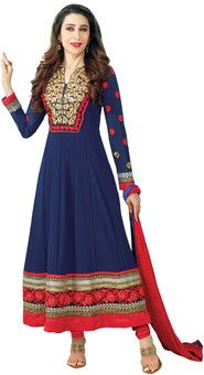 Fabdeal Georgette Self Design Semi-stitched Salwar Suit Dupatta Material: Fabric
