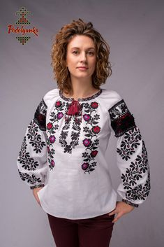 Жіноча вишиванка Борщівська старовинна - Podolyanka в Львове Folk Fashion, Ethnic Fashion, Womens Fashion, Dress Me Up, Ukraine, Embroidery Designs, Cross Stitch, Traditional, Crochet