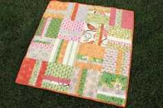 Easy, beginner quilt in baby and twin sizes. Fat Quarter friendly. Includes tips on how to pick fabric for a quit.