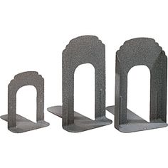 Decorative Collectibles Gentle 1 Pair Maple Bookends Non-skid Metal Magazines Books Supports Home Library Use Book Ends