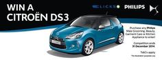 #SwipeandWin with Clicks in the Riverside Mall!  Stand a chance to win a Citroen DS3 worth R245 000 with Philips and Clicks!  All you have to do is swipe your Clicks ClubCard when you purchase any Philips kitchen appliances, garment care (ironing), male grooming or beauty branded products.  Competition closes on 31 December