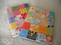 A Quilting Life: Little Things  patchwork composition books