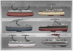 Feng Zhu Design: FZD Term 3 Student Work Entertainment Design Part 2 Zeppelin, Steampunk, Space Battles, Image Fun, Diesel Punk, Mechanical Design, Science Fiction Art, Boat Design, Environmental Art