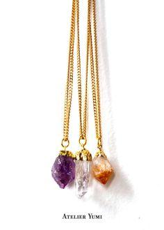 healing crystals necklaces