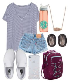 School outfit by jadenriley21 on Polyvore featuring Zara, Levi's, Vans, The North Face, Kendra Scott, Kate Spade and CamelBak