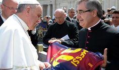 Messi y el Papa, al fin juntos