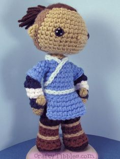 ~PATTERN ONLY NOT A FINISHED ITEM~  This is a pattern to make Sokka from Avatar…
