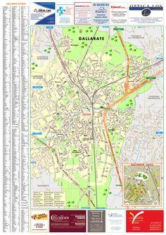 La mappa dettagliata del comune di Gallarate con lo stradario