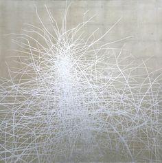 KLAUS WANKER, die krähe,  2015 Öl, Alkyd, Aluminium auf Leinwand 150 x 150 cm