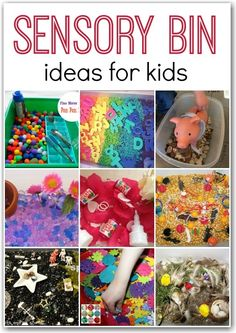 Great for preschoolers! 10+ sensory bin ideas.
