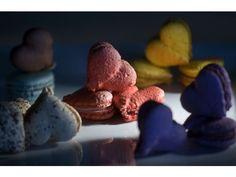 Heart shaped macarons by Eddy Rocq via OC Register