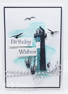 Hey Everyone It's Friday, so that means we have a new challenge at Just Add Ink for you. Our challenge for you is to: I'm going through a bit of a watercolour background phase on my ca… Masculine Birthday Cards, Birthday Cards For Men, Masculine Cards, Male Birthday, High Tide Stampin Up, Nautical Cards, Beach Cards, Stamping Up Cards, Fathers Day Cards
