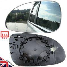 Left side Wing door mirror glass for Jaguar X-Type 2001-08 heated plate