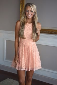 ... Spring Romance Dress ~ Peach. Sign up for Restock