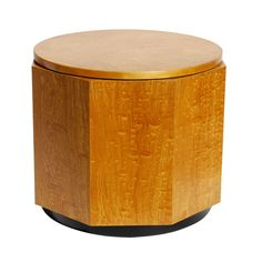 Alvar Aalto Finnish Birch Burl Hexagon Table | From a unique collection of antique and modern side tables at http://www.1stdibs.com/furniture/tables/side-tables/