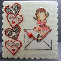 Magnolia Valentine Card by LMstampartist - Cards and Paper Crafts at Splitcoaststampers
