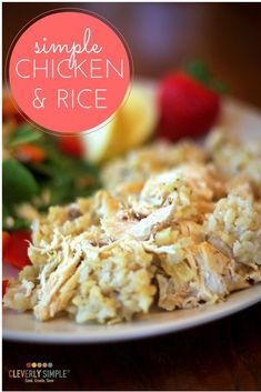 This simple chicken and rice recipe is so easy to make!