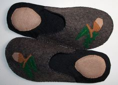 "Felt slippers for man hand sewn - Made in Italy - ""$32"""