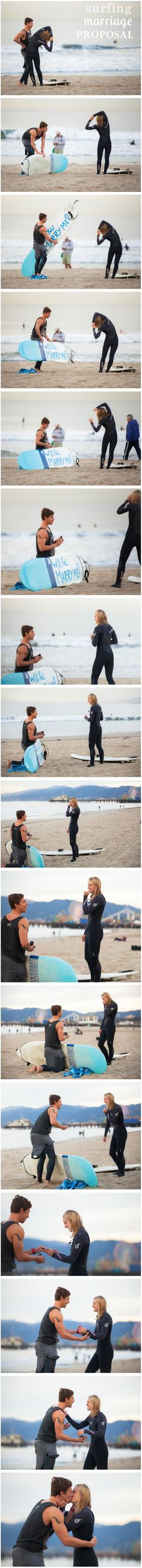 This proposal is EVERYTHING. http://howheasked.com/surfing-marriage-proposal