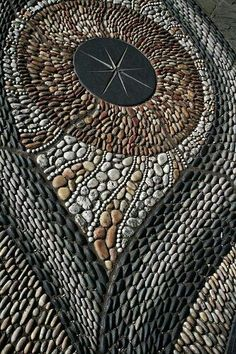 Pebble mosaics‍♀️‍♀️mosaic ideas | Mosaic ideas for your home ‍♀️More Pins Like This At FOSTERGINGER @ Pinterest ‍♀️