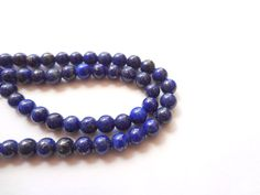 4mm Genuine Lapis Lazuli Round Semi Precious by gemsupplies, $6.45