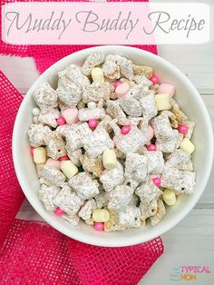 Easy muddy buddy recipe, or puppy chow as some call it.