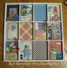 Graphic Mother Goose paper collection, Printer's Tray by Amy Kluchesky. Altered Boxes, Altered Art, Paper Art, Paper Crafts, Tin Art, Mother Goose, Graphic 45, Paper Decorations, Shadow Box
