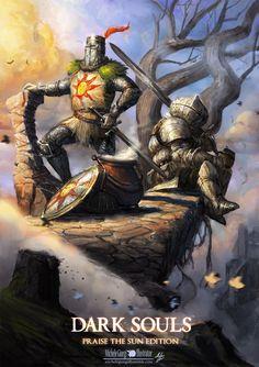 Dark Souls Fan Art - praise the sun edition., Michele Giorgi on ArtStation at https://www.artstation.com/artwork/Kv8ZW