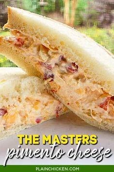 Soup And Sandwich, Sandwich Recipes, Appetizer Recipes, Cold Appetizers, Sandwich Fillings, Chicken Sandwich, Salad Recipes, Pimento Cheese Sandwiches, Pimento Cheese Recipes