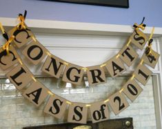 CLASS of 2015 Banner /Graduation Party Decorations / High School Graduation Banner/ Class of 2015 Decor /You Pick the Colors