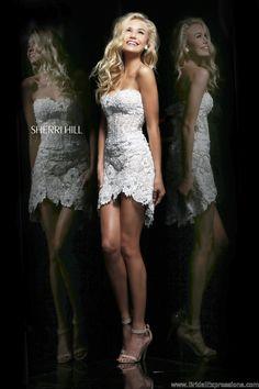 Sherri Hill 11054 Short Lace Prom Dress