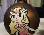 "Hand-Painted Christmas Ornament (3 1/4"") - Link - Legend of Zelda: Wind Waker. $10.00, via Etsy."